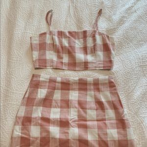 forever 21 two piece gingham dress